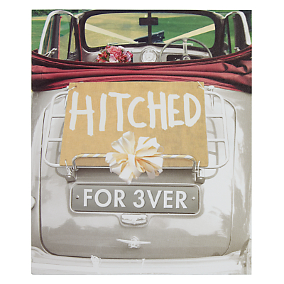 Product photo of Woodmansterne just married car wedding card