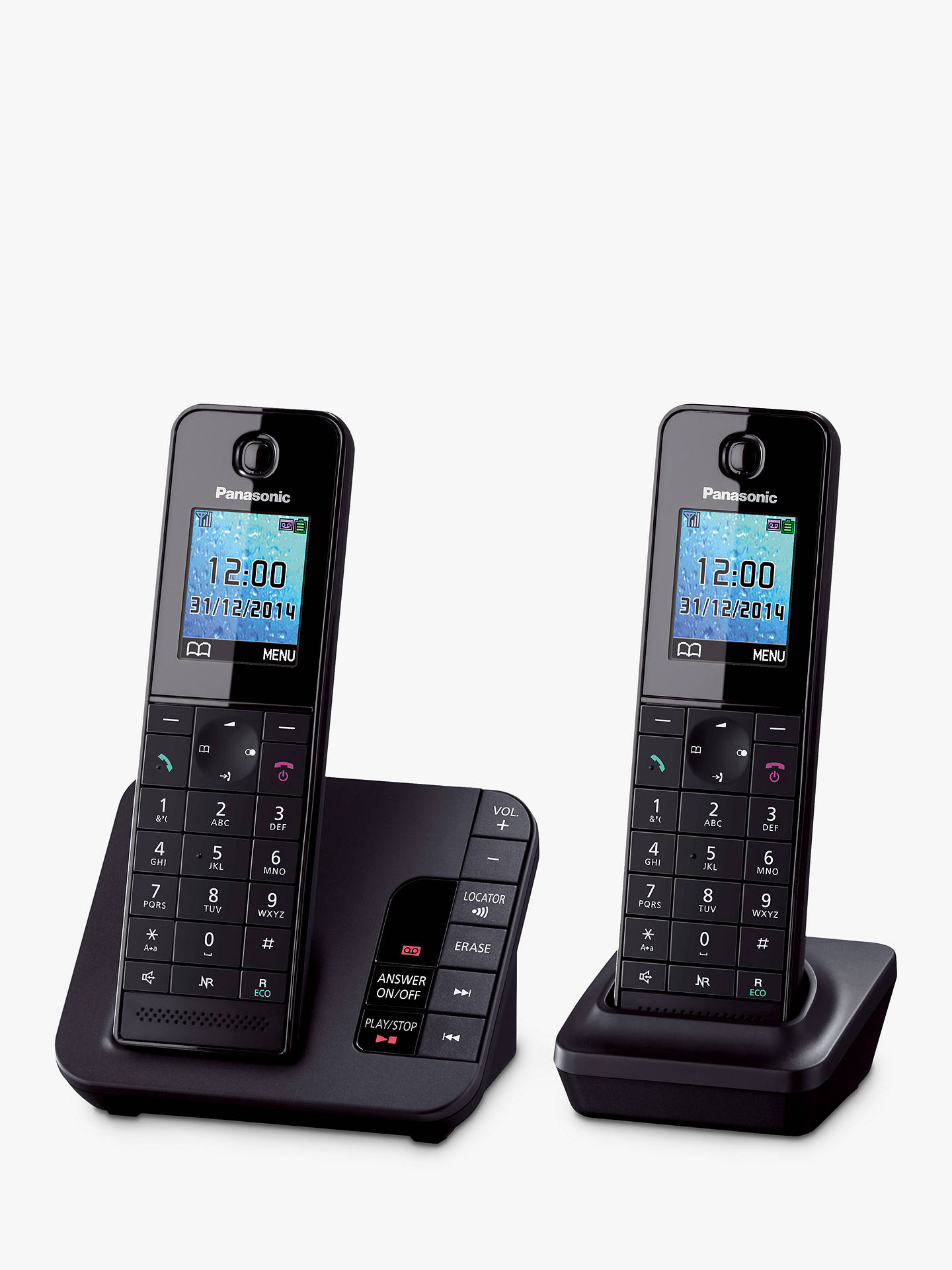 BuyPanasonic KX-TGH222EB Digital Telephone and Answering Machine with Nuisance Call Control, Twin DECT Online at johnlewis.com