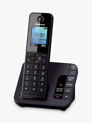 Panasonic KX-TGH220EB Digital Telephone and Answering Machine with Nuisance Call Control, Single DECT