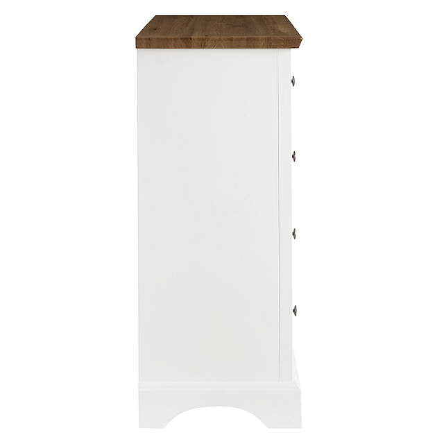 BuyJohn Lewis Darton 5 Drawer Chest, Soft White/Oak Online at johnlewis.com
