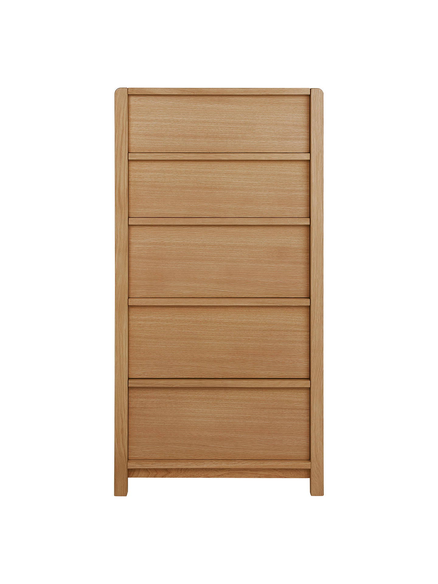 BuyJohn Lewis & Partners Montreal Tall 5 Drawer Chest, Oak Online at johnlewis.com