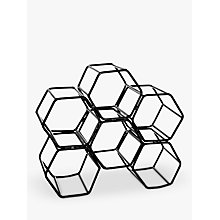 Buy John Lewis Honeycomb Metal Wine Rack, 6 Bottles Online at johnlewis.com