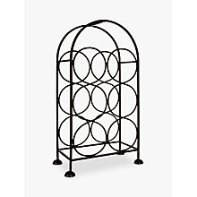 Buy John Lewis Iron Wine Rack, 6 Bottles, Black Online at johnlewis.com