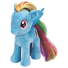 Buy Ty My Little Pony Rainbow Dash Beanie Baby, 30cm Online at johnlewis.com