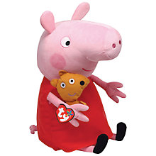 Buy Ty Peppa Pig Soft Toy, 38cm Online at johnlewis.com