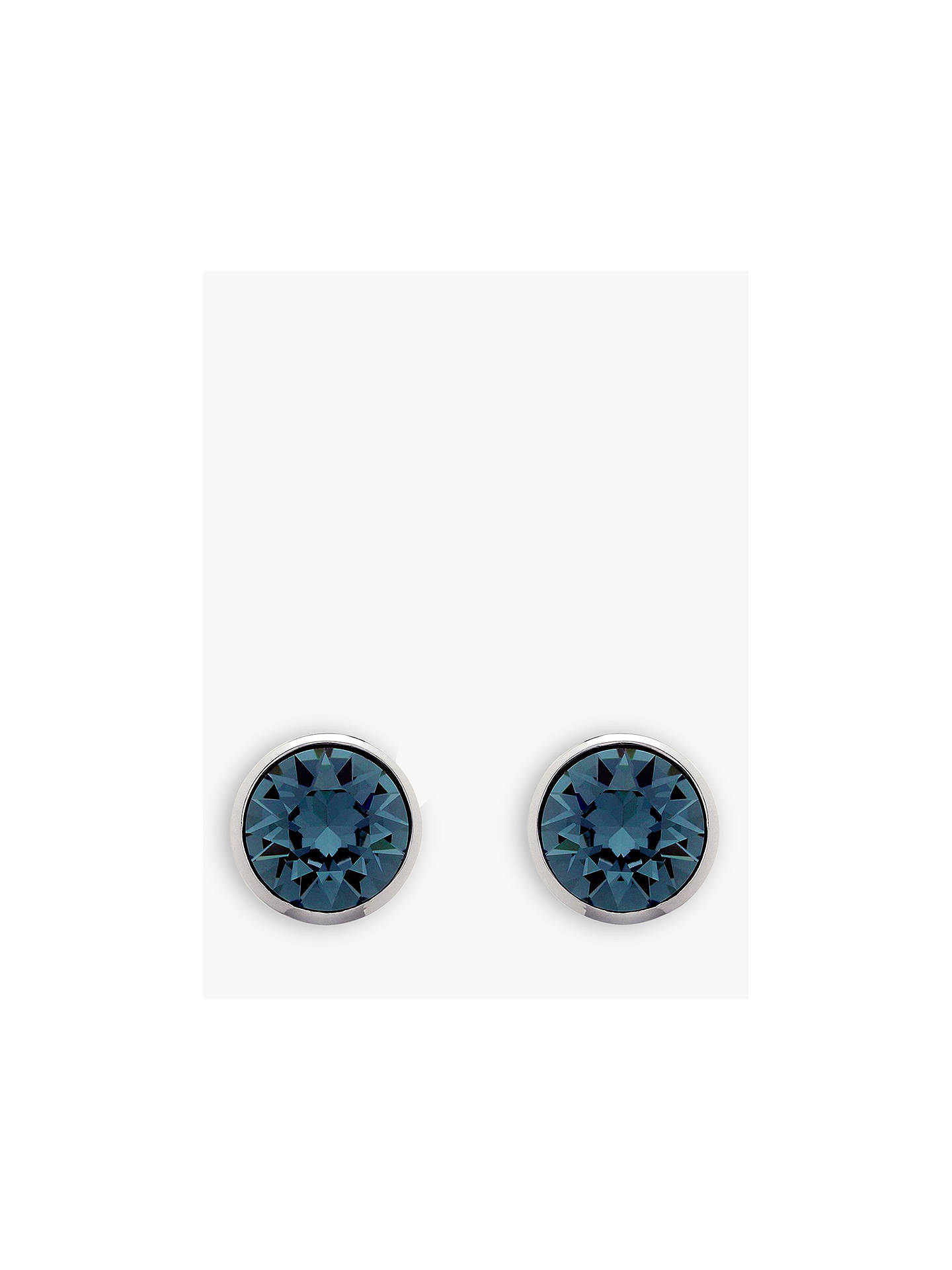 0a8647cb6 Buy Melissa Odabash Swarovski Crystal Stud Earrings, Dark Blue/Silver  Online at johnlewis.