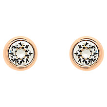Buy Finesse Swarovski Crystal Stud Earrings, Rose Gold Online at johnlewis.com