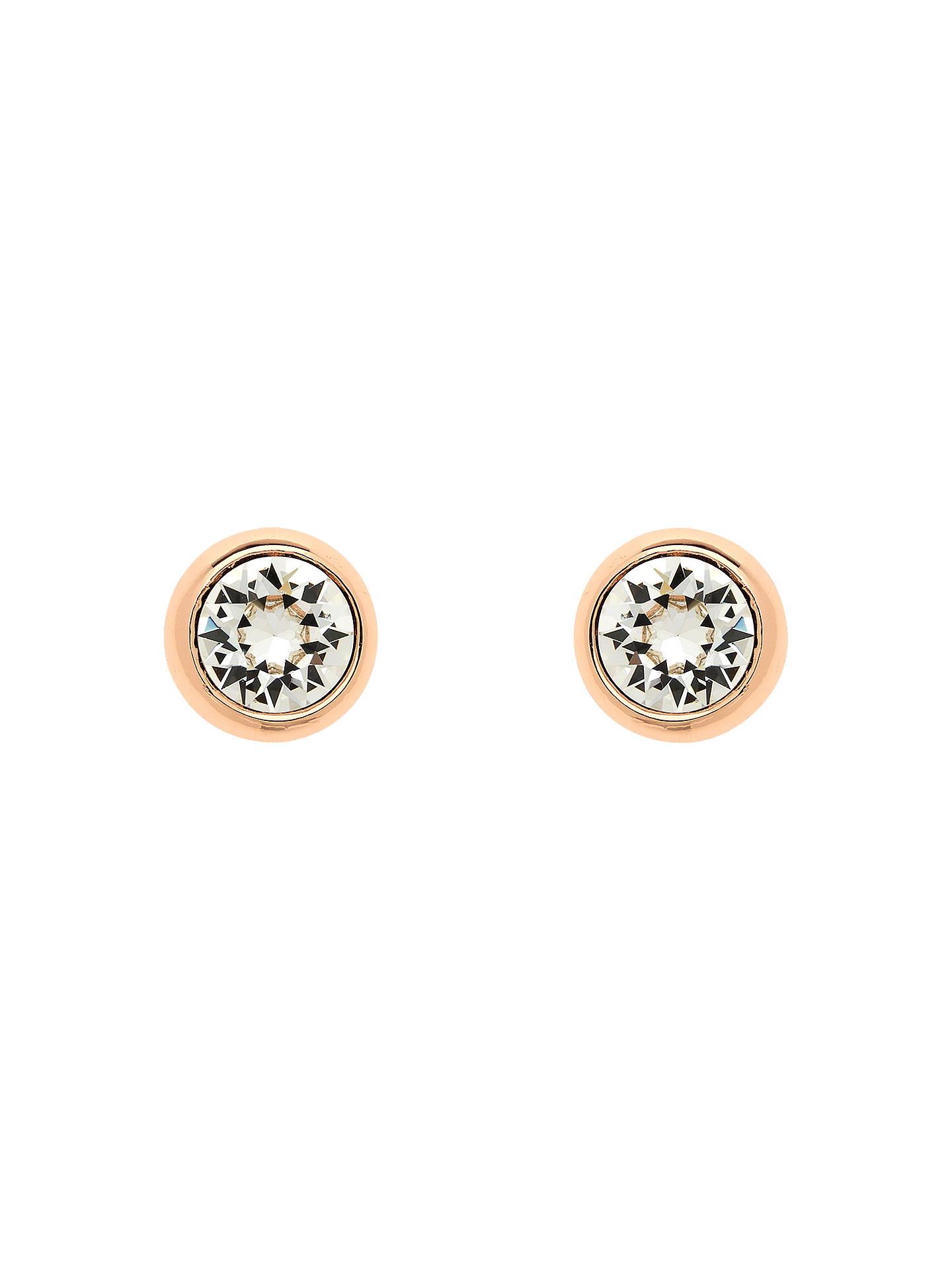 Finesse Swarovski Crystal Stud Earrings Rose Gold Online At Johnlewis