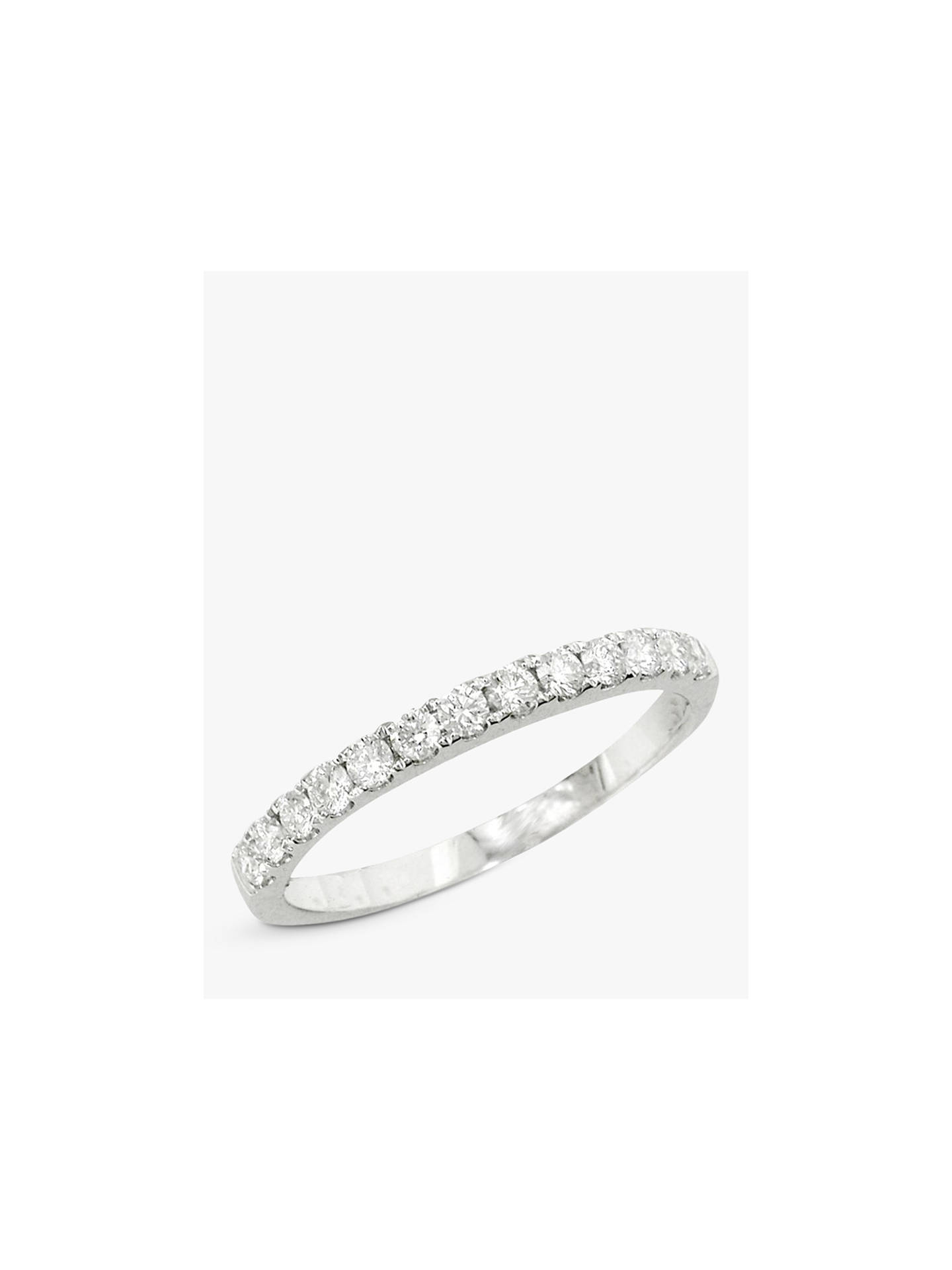 Buy E.W Adams 18ct White Gold Diamond Eternity Ring, White Gold Online at johnlewis.com