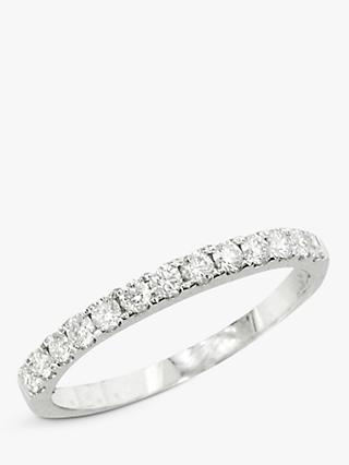 E.W Adams 18ct White Gold Diamond Eternity Ring, White Gold