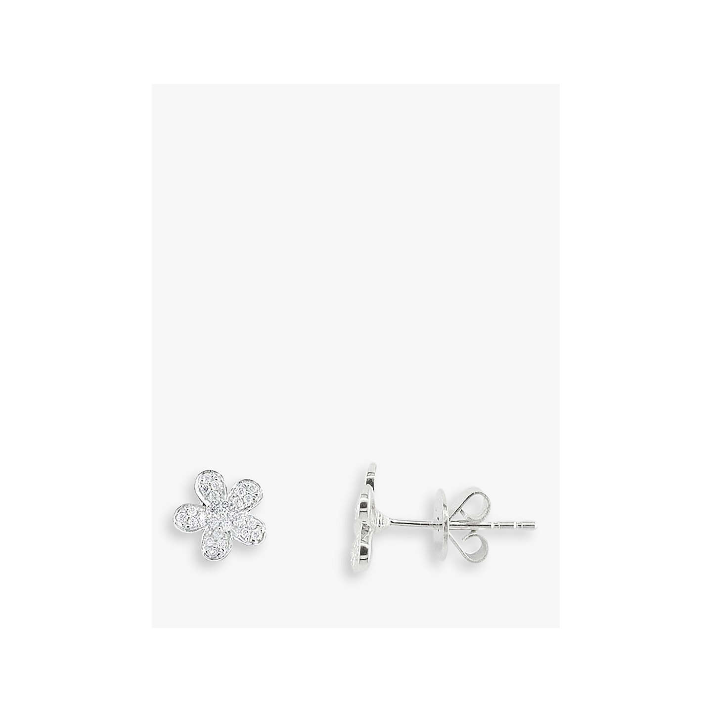 adamar diamond studs earring jewellery flower scattered stud diamonds img floral big