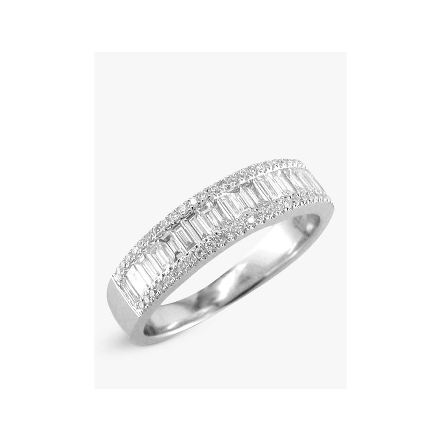 diamond platinum wedding rings full eternity carat ring baguette size
