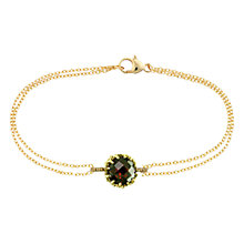 Buy London Road Bloomsbury 9ct Gold Chequer-Cut Garnet Coronation Bracelet, Gold Online at johnlewis.com