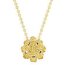 Buy London Road 9ct Yellow Gold Posy Pendant Necklace, Gold Online at johnlewis.com