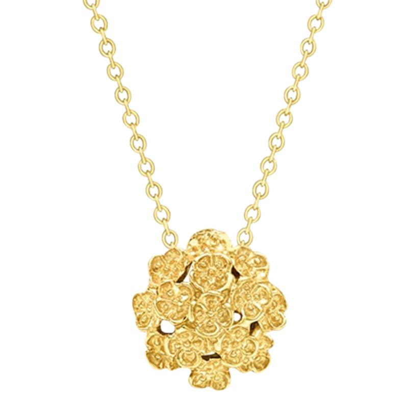London Road London Road 9ct Yellow Gold Posy Pendant Necklace, Gold