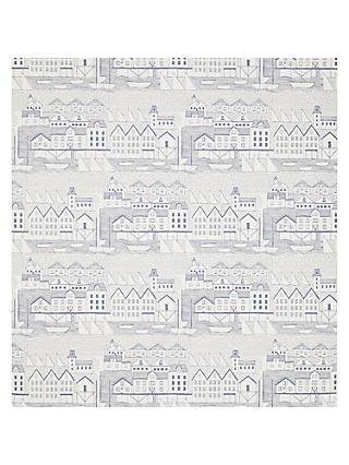John Lewis & Partners Nordic Houses Wallpaper, Blue