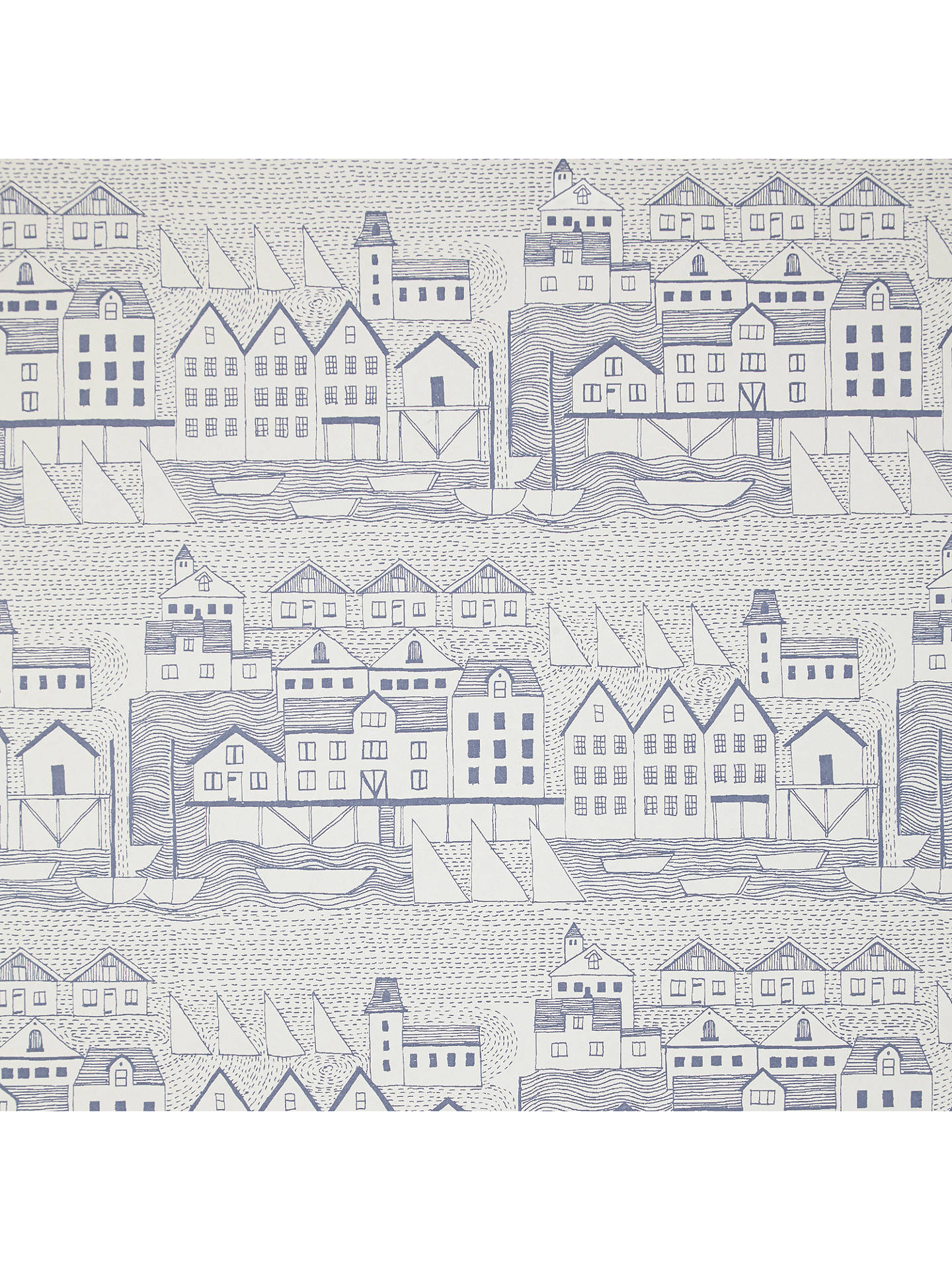 BuyJohn Lewis & Partners Nordic Houses Wallpaper, Blue Online at johnlewis.com