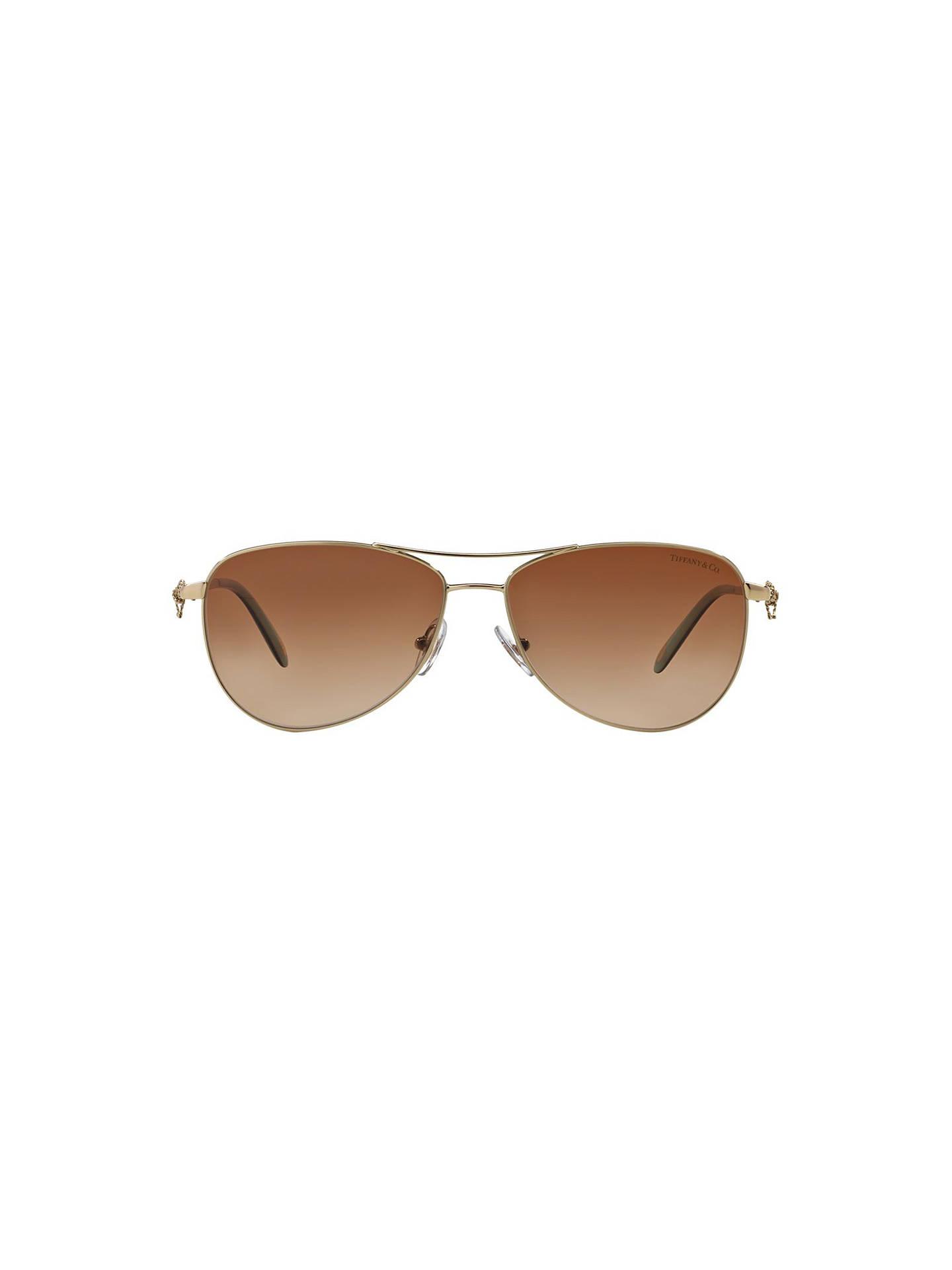 e35ada1c35771 Tiffany   Co TF3044 Aviator Sunglasses at John Lewis   Partners
