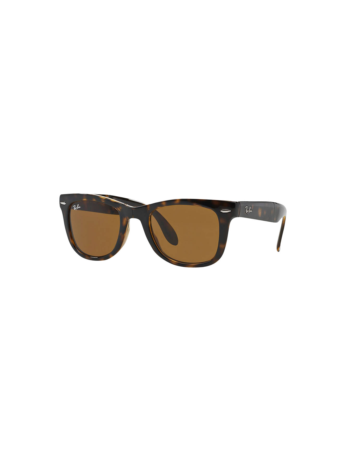 1df20eb4c1 Ray-Ban RB4105 Men s Folding Wayfarer Sunglasses at John Lewis ...