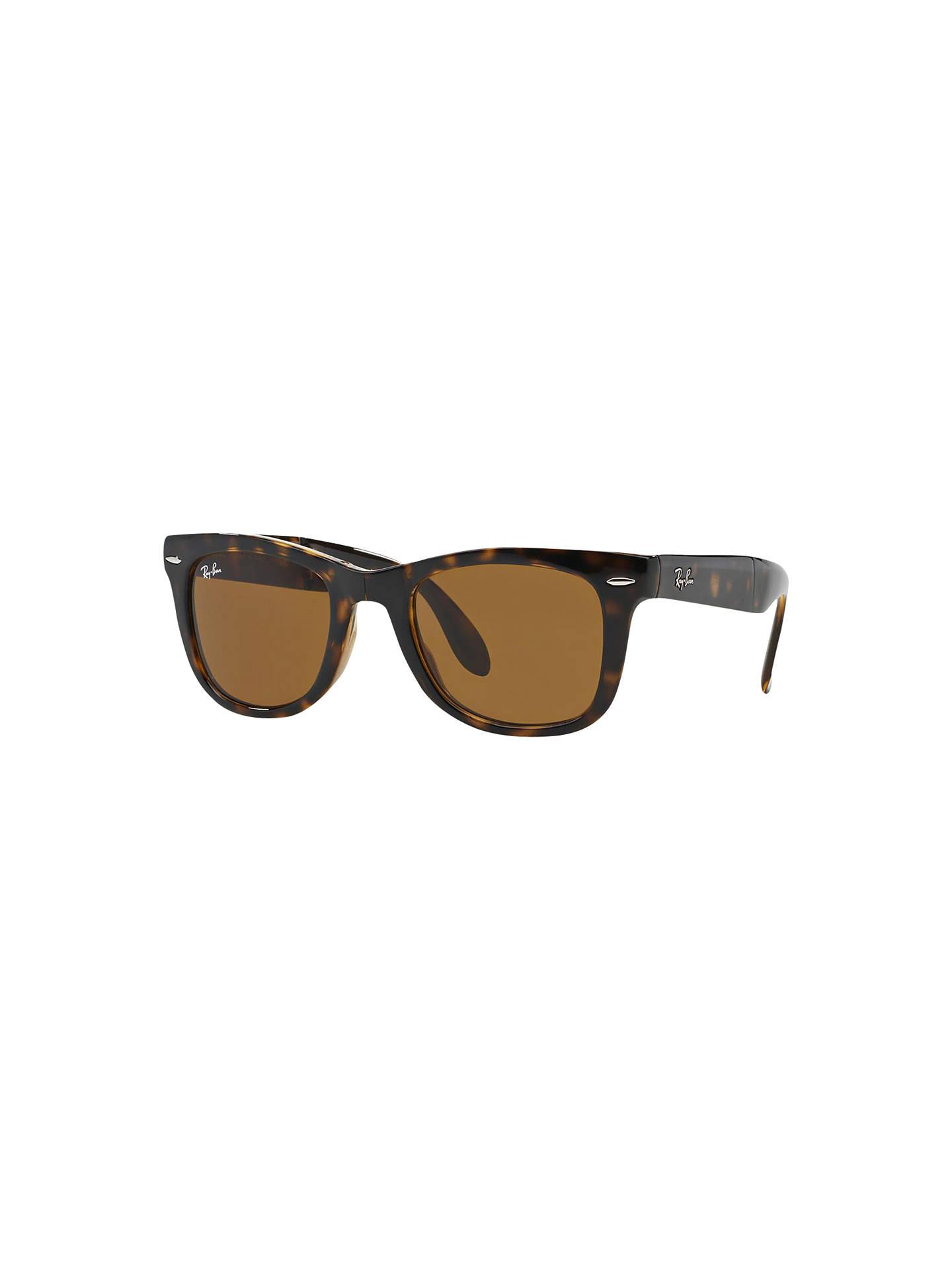 7c5b1f9b47 Ray-Ban RB4105 Men s Folding Wayfarer Sunglasses at John Lewis ...