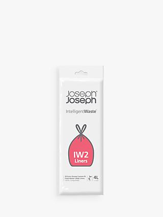 Joseph Joseph Intelligent Waste Separation & Recycling Totem Custom Food Waste Caddy Liners, Pack of 50