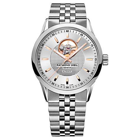 raymond weil men s watches john lewis buy raymond weil 2710 st5 65021 men s lancer automatic bracelet strap watch silver