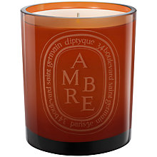 Buy Diptyque Ambre Scented Candle, 300g Online at johnlewis.com
