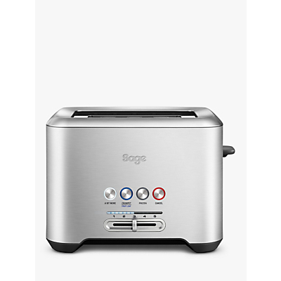 Sage A Bit More 2-Slice Toaster, Brushed Metal