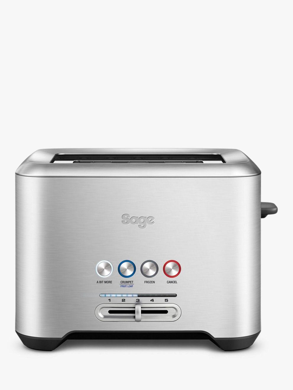 Sage Sage A Bit More 2-Slice Toaster, Brushed Metal