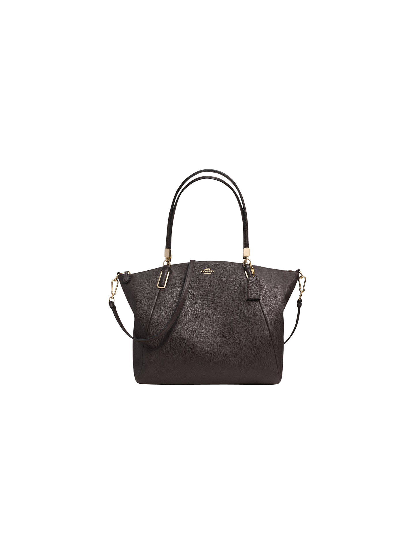 Coach Kelsey Leather Satchel Bag At John Lewis Partners Buycoach Brown Online