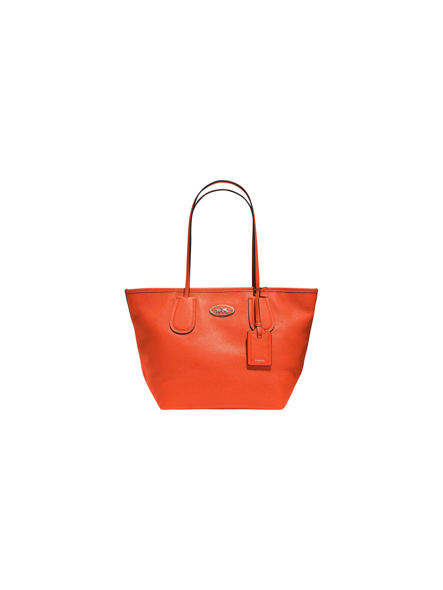 sale coach signature coh taxi zip tote f34104 brown black 3cc45 ce009   coupon code for buycoach taxi zip leather tote bag coral online at  johnlewis 0e938 ... fe83e347e5820