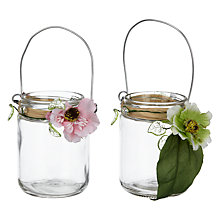 Buy John Lewis Floral Glass Lanterns Online at johnlewis.com