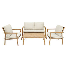 Buy John Lewis Croft Collection Islay 4 Seater Outdoor Lounging Set, Natural Online at johnlewis.com