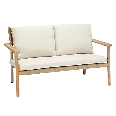 John Lewis Croft Collection Islay 2 Seater Outdoor Sofa, Natural