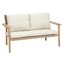 Buy John Lewis Croft Collection Islay 2 Seater Outdoor Sofa, Natural Online at johnlewis.com
