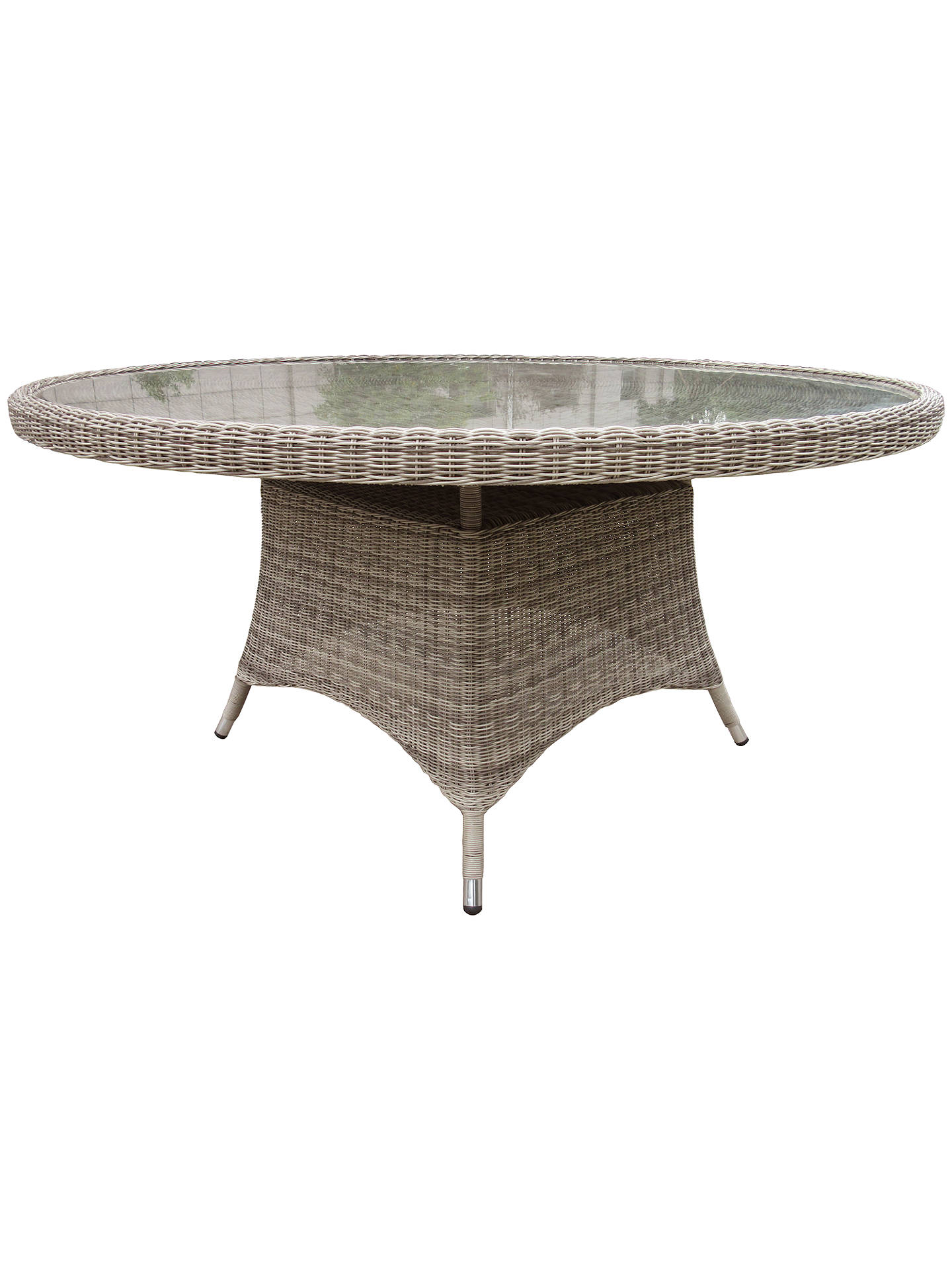 Buy john lewis partners dante 6 seater outdoor dining table natural online at johnlewis