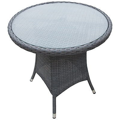 John Lewis Malaga 2-Seat Bistro Table, Grey