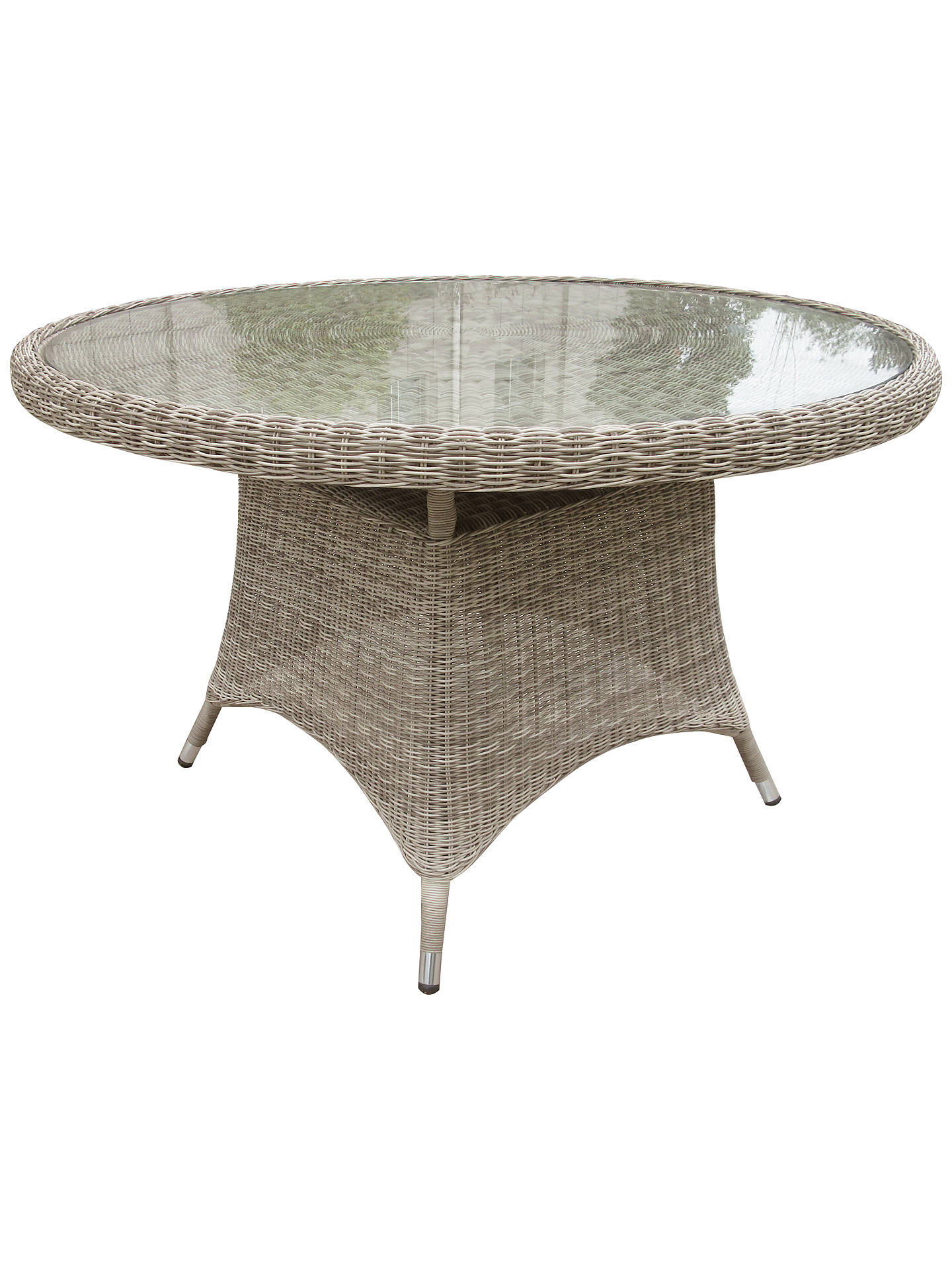 Buy John Lewis & Partners Dante 4-Seat Glass Top Garden Dining Table, Natural Online at johnlewis.com