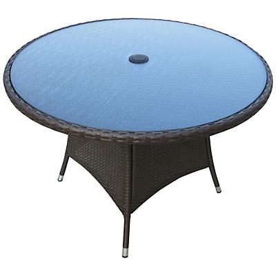 John Lewis Malaga 4-Seater Outdoor Dining Table, Brown
