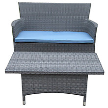 Buy John Lewis Malaga 2-Seat Sofa and Coffee Table Set, Grey Online at johnlewis.com