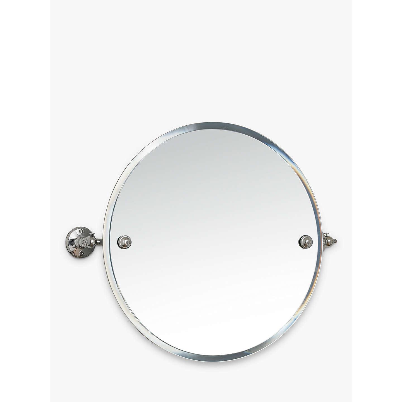 Miller stockholm bathroom swivel mirror at john lewis for Oval swivel bathroom mirror