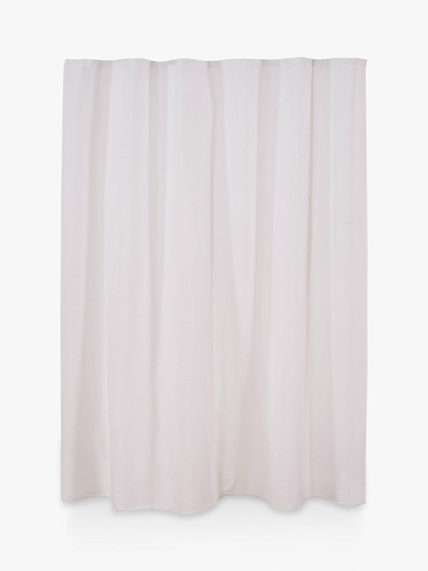 BuyCroft Collection Seersucker Shower Curtain Online At Johnlewis