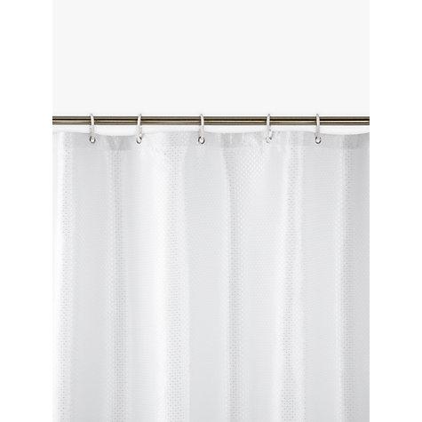 Buy John Lewis Jacquard Shower Curtain White Online At Johnlewis