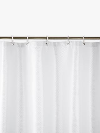 John Lewis Partners Jacquard Shower Curtain White