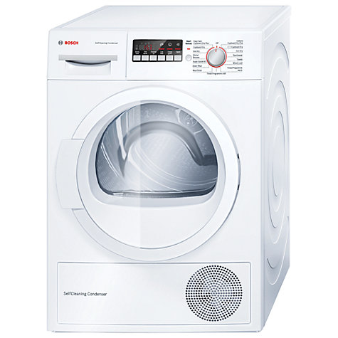 buy bosch wtw85260gb heat pump condenser tumble dryer 8kg load a energy rating white john. Black Bedroom Furniture Sets. Home Design Ideas