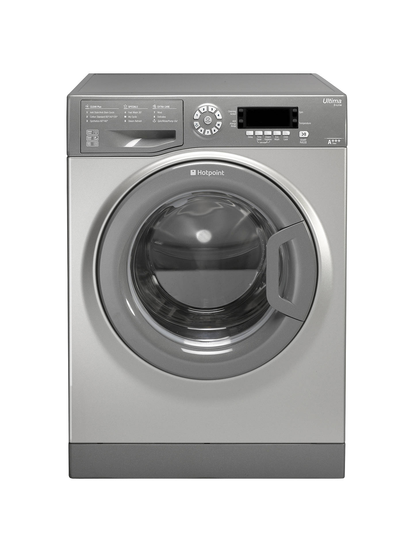 1517bb872da4 Buy Hotpoint SWMD9637G Freestanding Washing Machine, 9kg Load, A+++ Energy  Rating, 1600rpm Spin ...