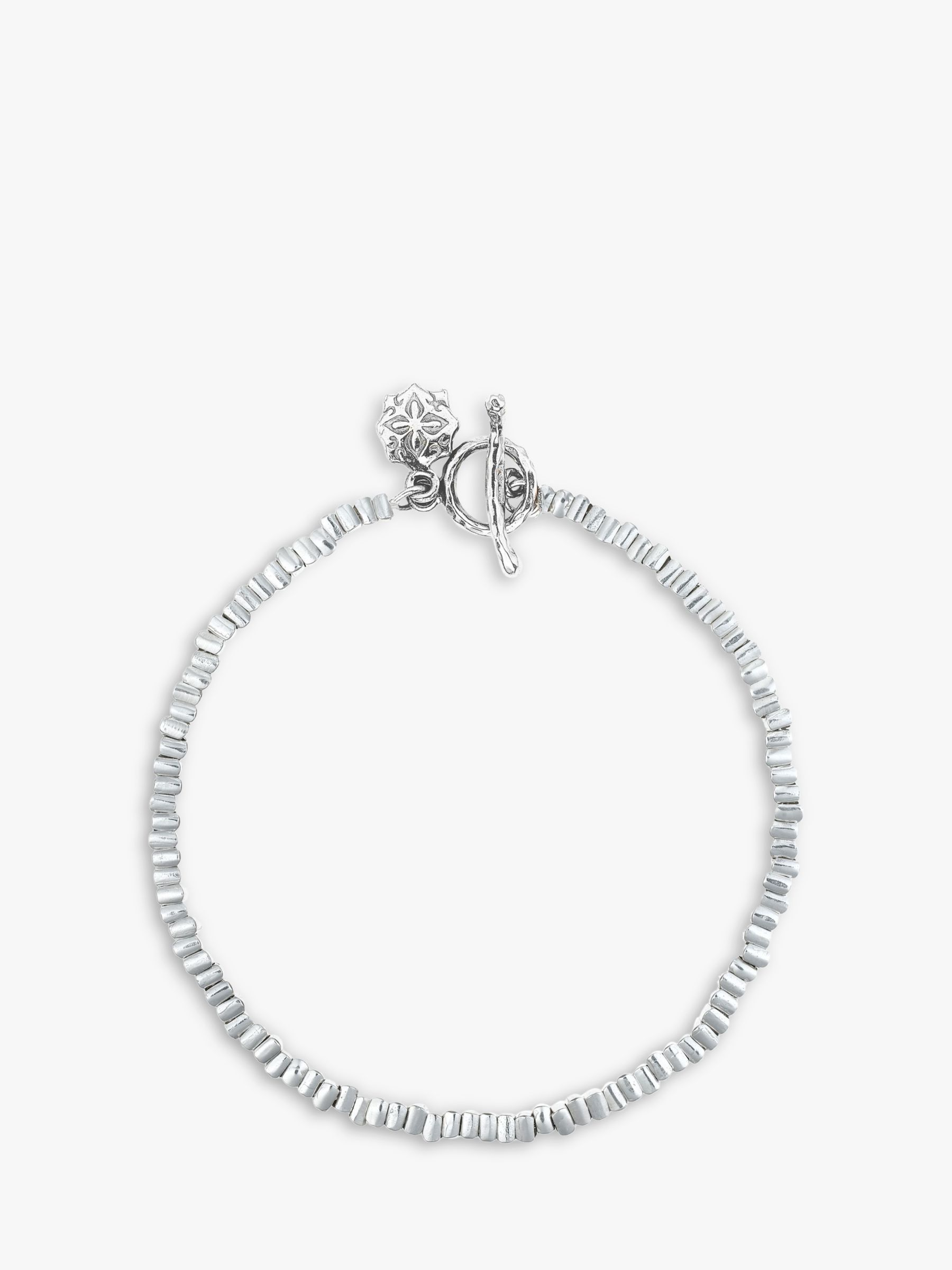 Dower & Hall Dower & Hall Sterling Silver Kube Bracelet