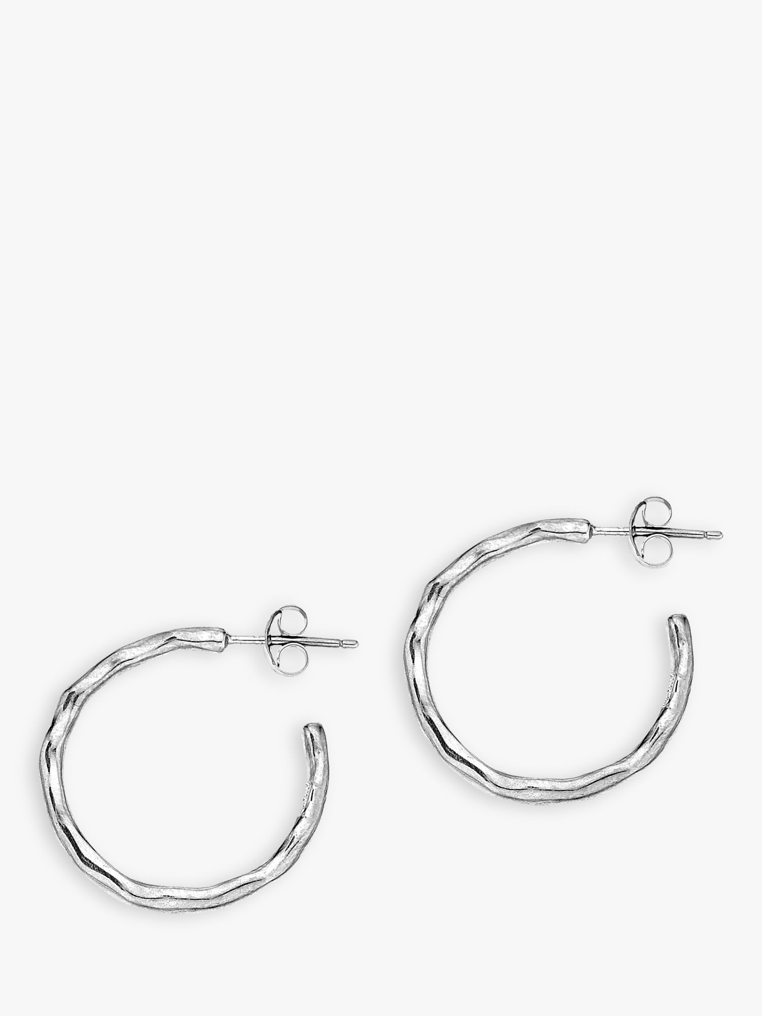 Dower & Hall Dower & Hall Sterling Silver Small Waterfall Hoops, Silver