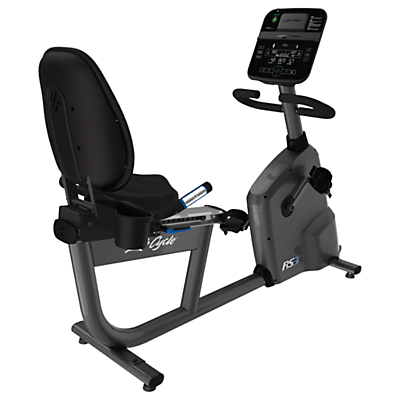 Life Fitness RS3 Lifecycle Recumbent Exercise Bike, Track Console