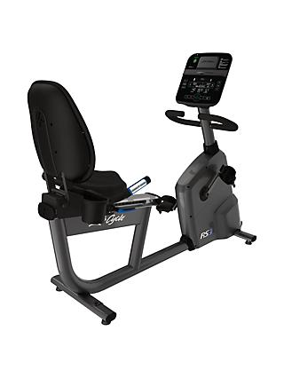 Life Fitness RS3 Lifecycle Recumbent Exercise Bike with Track Connect Console